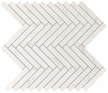 Настенная плитка Marvel Stone Carrara Pure Herringbone Wall
