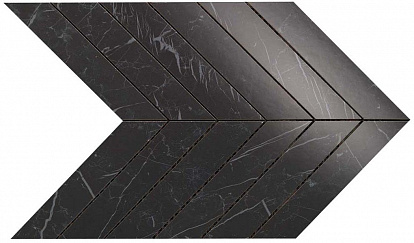 Настенная плитка Marvel Stone Chevron Nero Marquina Wall